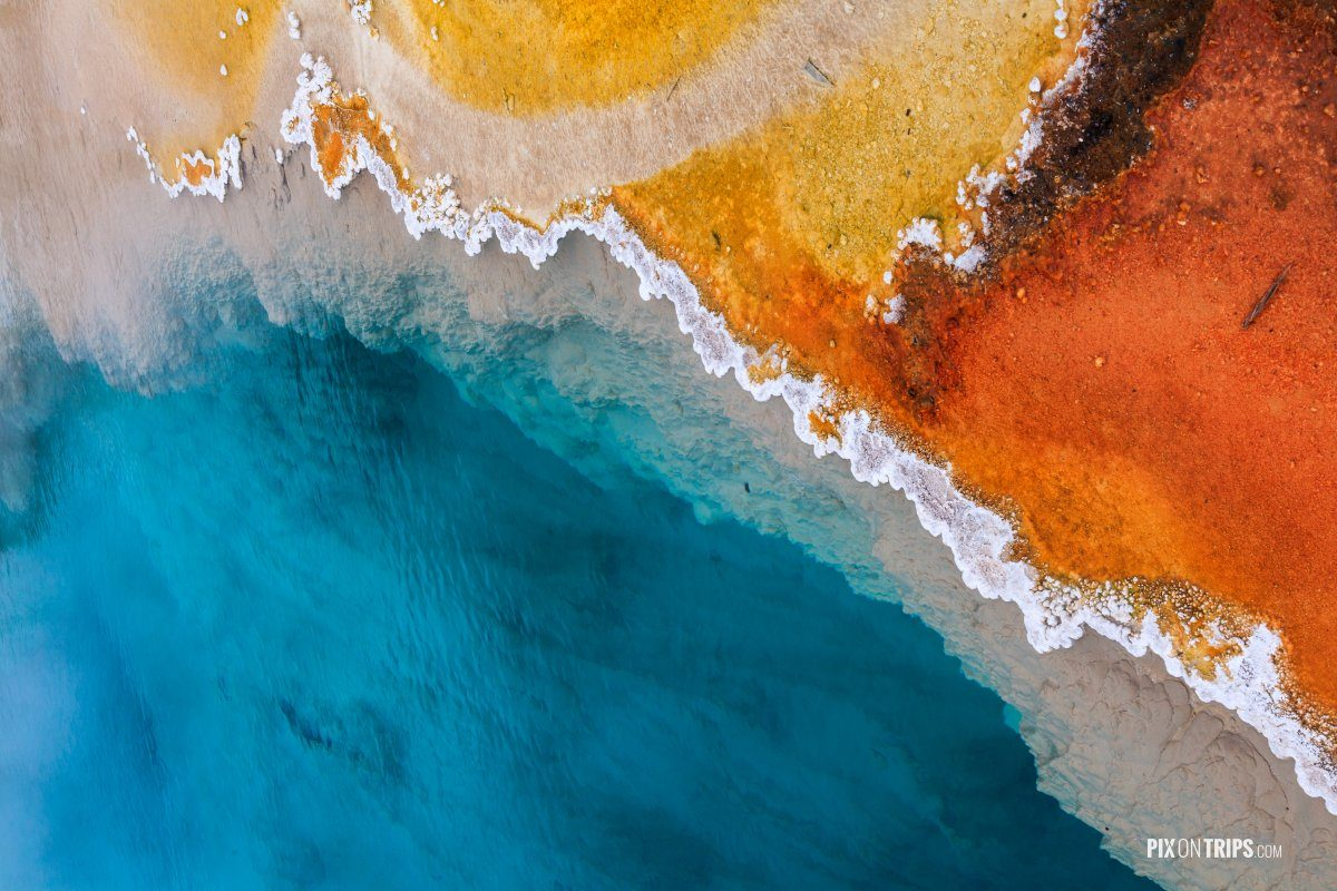 Abstract colors of hot spring in Yellowstone National Park - Pix on Trips