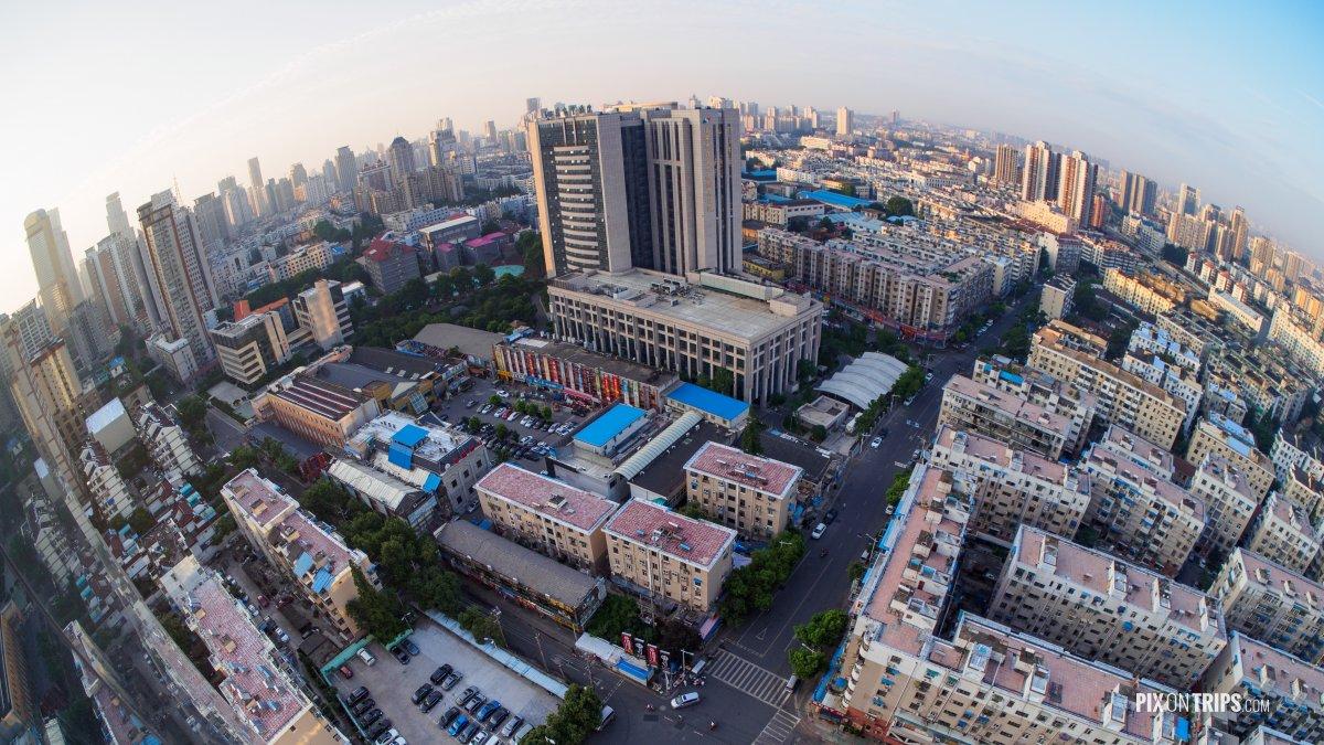 Fisheye view of Nanjing City Center - Pix on Trips