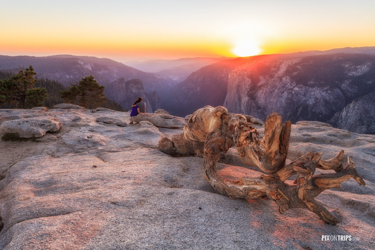 Sunset at Lembert Dome, Yosemite National Park - Pix on Trips