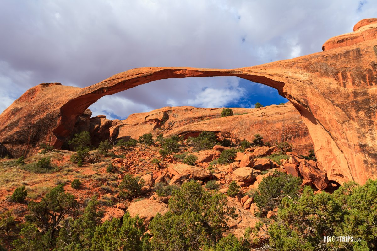 The Landscape Arch - Pix on Trips
