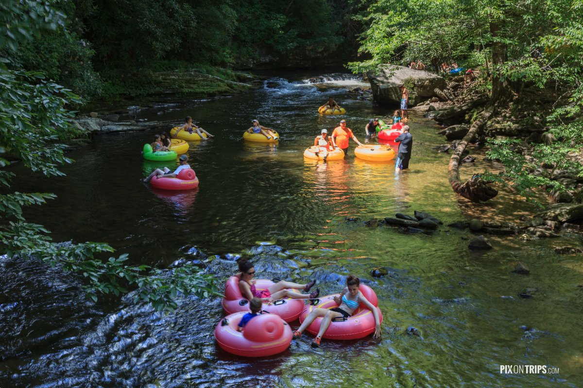 Tubing in Great Smoky Mountain National Park - Pix on Trips