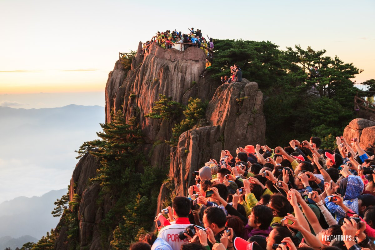 Watching Sunrise at Mt. Huangshan, Anhui, China - Pix on Trips