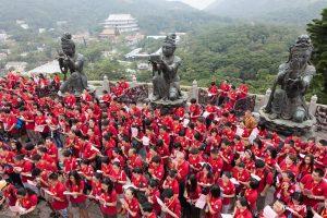 Worshipers at Tian Tan Buddha, Hong Kong, China - Pix on Trips
