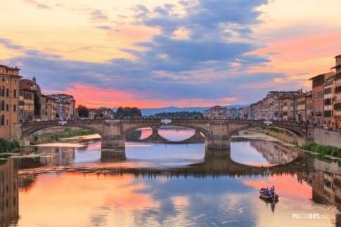 Arno River at dusk, Florence, Italy - Pix on Trips