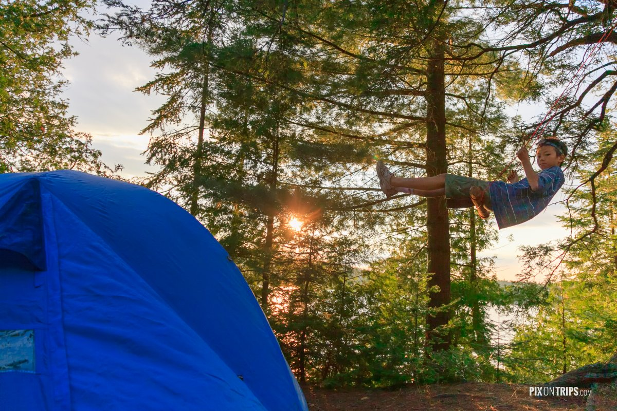 Canoe camping in Algonquin Provincial Park - Pix on Trips