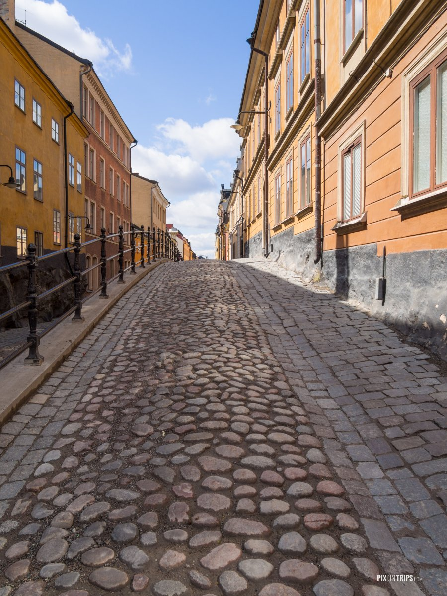 Cobblestone Alley in Stockholm - Pix on Trips