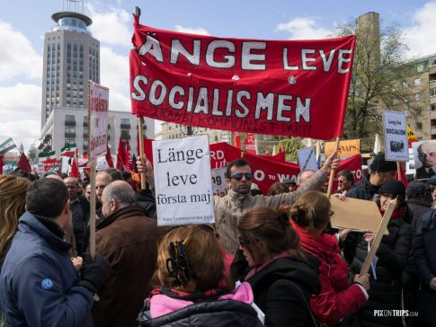 International Workers Day Rally in Stockholm - Pix on Trips