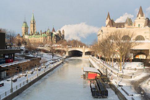 Ottawa Rideau Canal in Winter - Pix on Trips