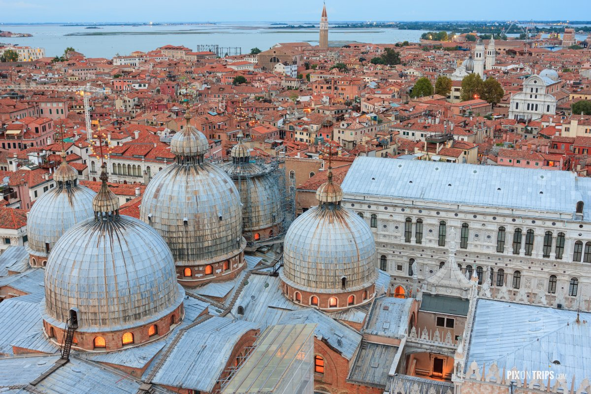 Aerial View of Venice from the Campanile, Venice, Italy - Pix on Trips