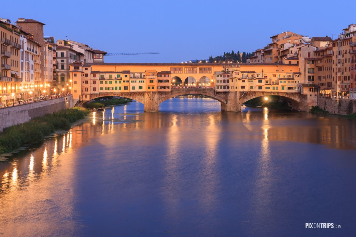 Ponte Vecchio of Florence, Italy - Pix on Trips