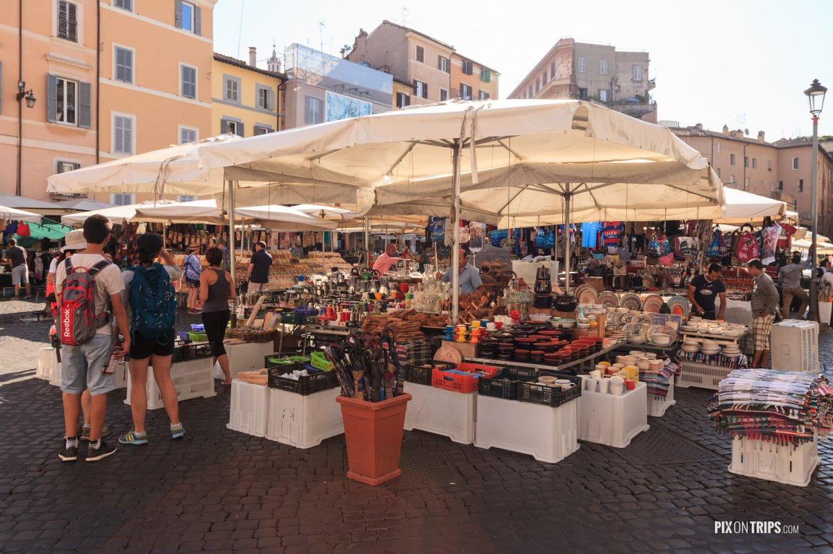 Campo de' Fiori  of Rome, Italy - Pix on Trips