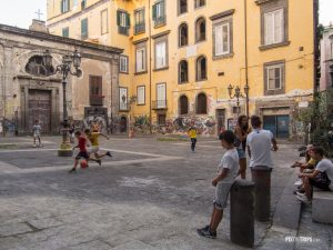 Kids play soccer in the neighbourhood, Naples, Italy - Pix on Trips