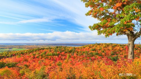 Fall colors in Ottawa Valley, Canada