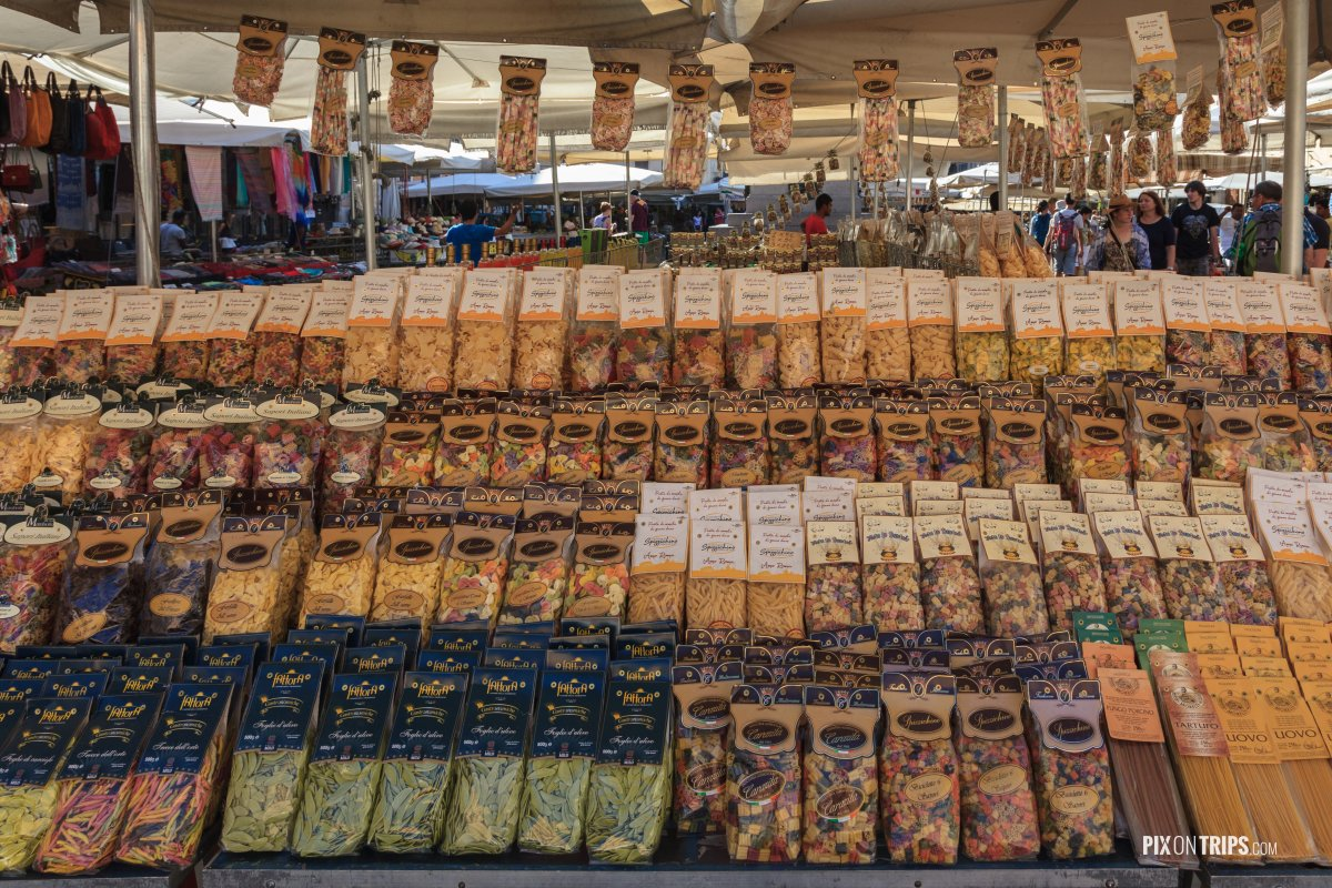 Various pasta sold in Campo de' Fiori, Rome, Italy - Pix on Trips