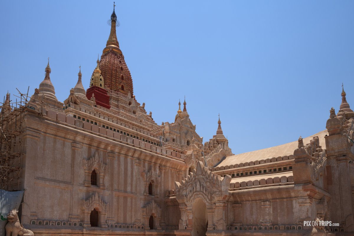 Ananda Temple under restoration, Bagan, Myanmar - Pix on Trips