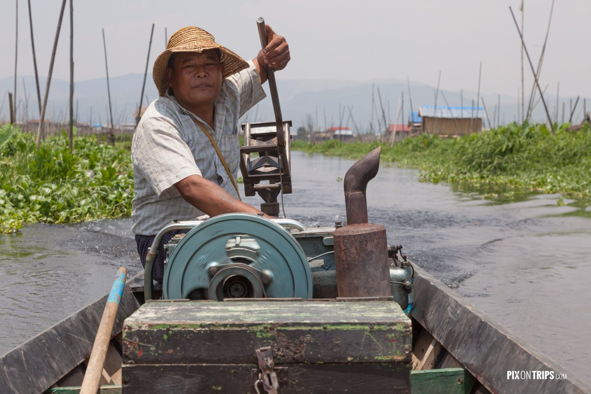 Boating on Lake Inle, Myanmar - Pix on Trips