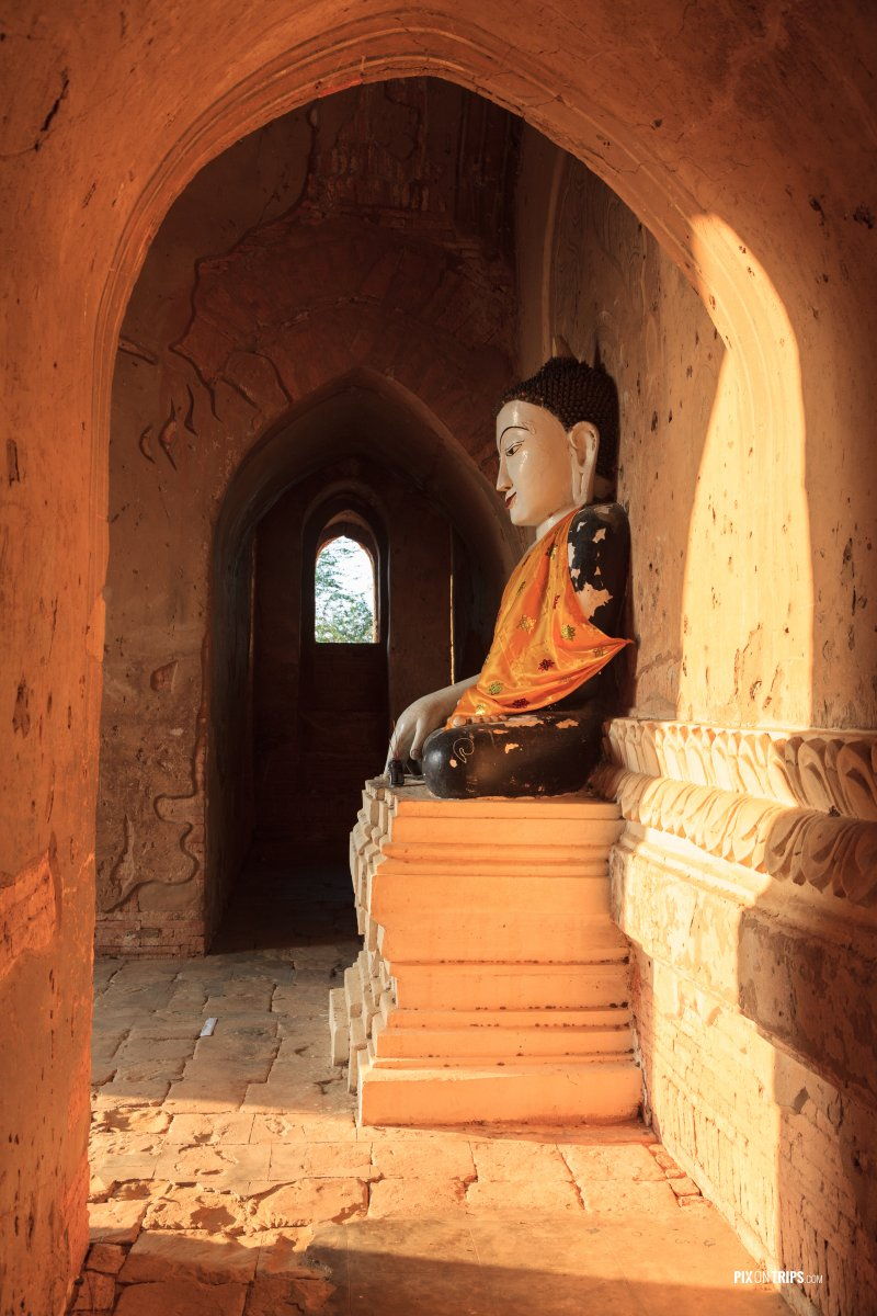 Buddha statue in North Guni Pagoda, Bagan, Myanmar - Pix on Trips