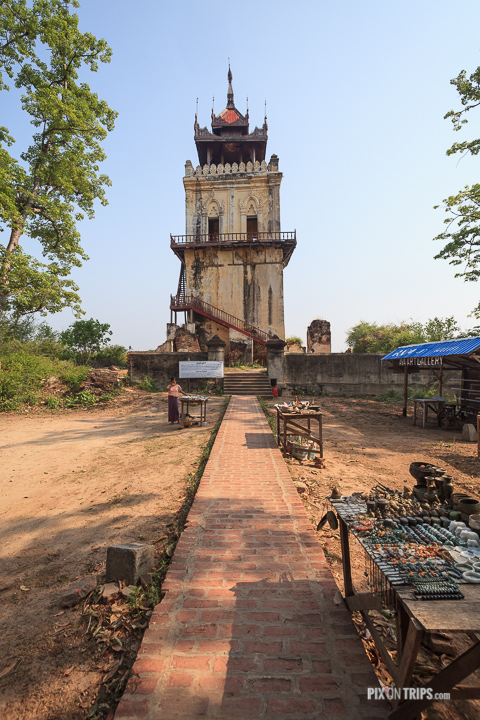 Leaning tower of Inwe, Mandalay, Myanmar
