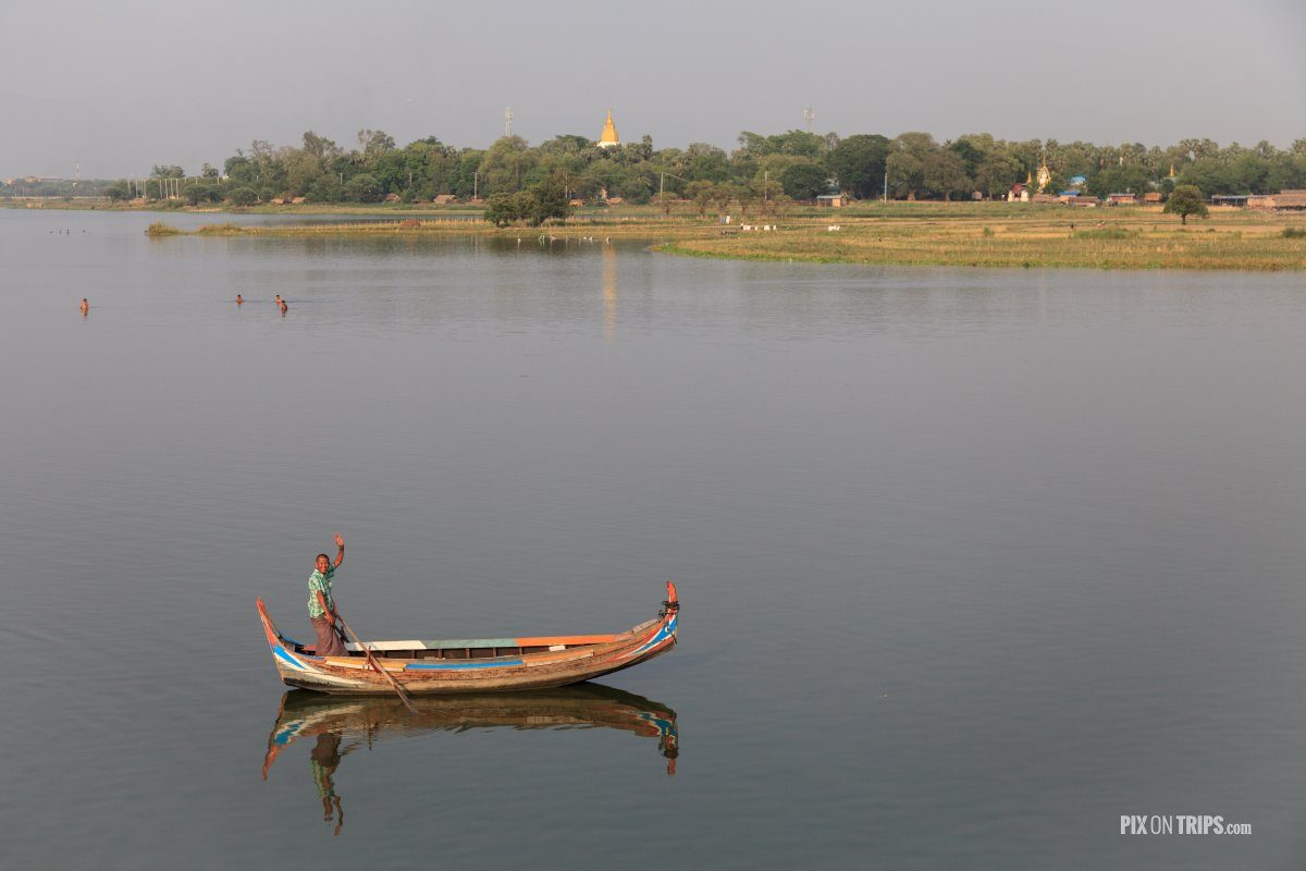 View from boat to Inwe, Mandalay, Myanmar