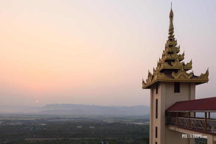 Sunrise at Mandalay Hill, Mandalay, Myanmar