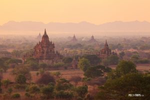 Misty sunrise from Shwesandaw Pagoda, Bagan, Myanmar - Pix on Trips