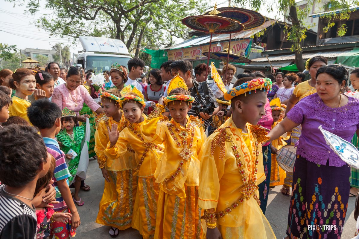 Novitiation ceremony in Mandalay, Myanmar - Pix on Trips