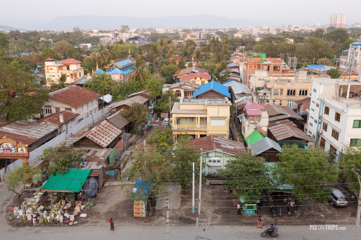 Panoramic view of Mandalay Myanmar | Pix on Trips