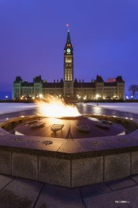 Parliament Hill and the Centennial Flame in Ottawa, Canada - Pix on Trips
