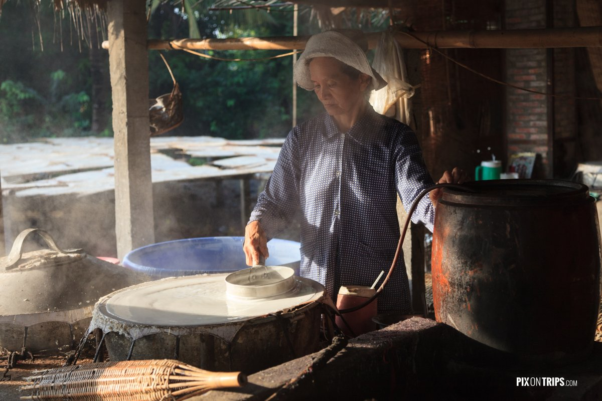 Rice noodle factory along the Mekong Delta, Vietnam - Pix on Trips