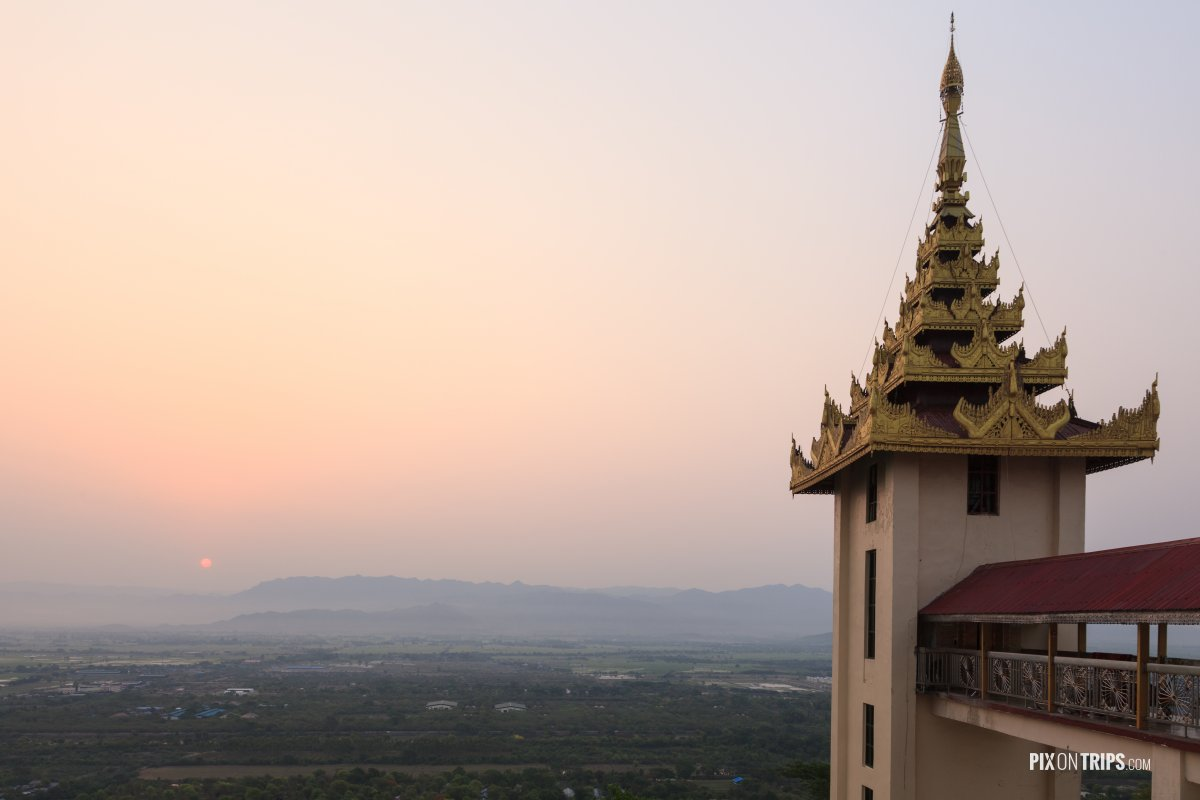 Sunrise at Mandalay Hill, Mandalay, Myanmar - Pix on Trips