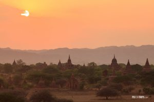Sunset from North Guni Pagoda, Bagan, Myanmar - Pix on Trips