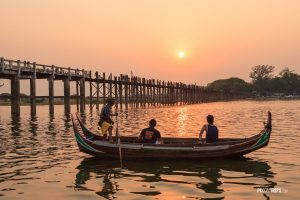 U Bein Bridge at sunset, Mandalay, Myanmar - Pix on Trips