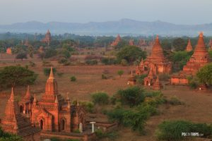 View from Shwesandaw Pagoda in morning light  - Pix on Trips