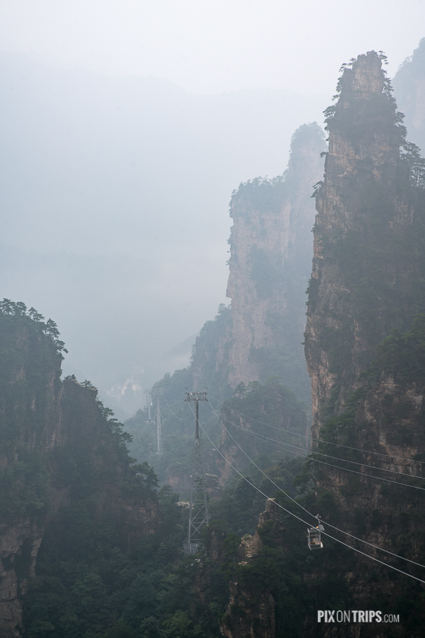 cable car in Zhangjiajie National Foreset Park