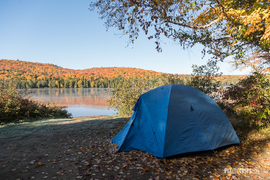 Campsite by the Rock Lake of Algonquin Provincial Park