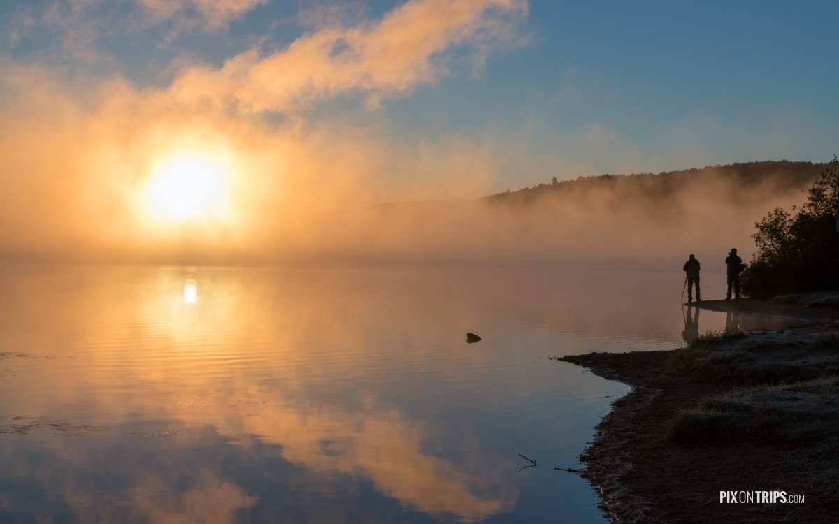 Lake of Two Rivers at sunrise - Pix on Trips