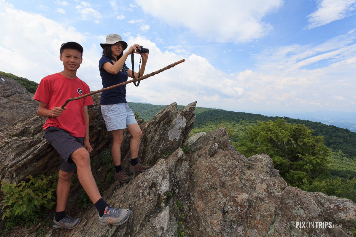 Bearfence Rock Scramble, Shenandoah National Park - Pix on Trips