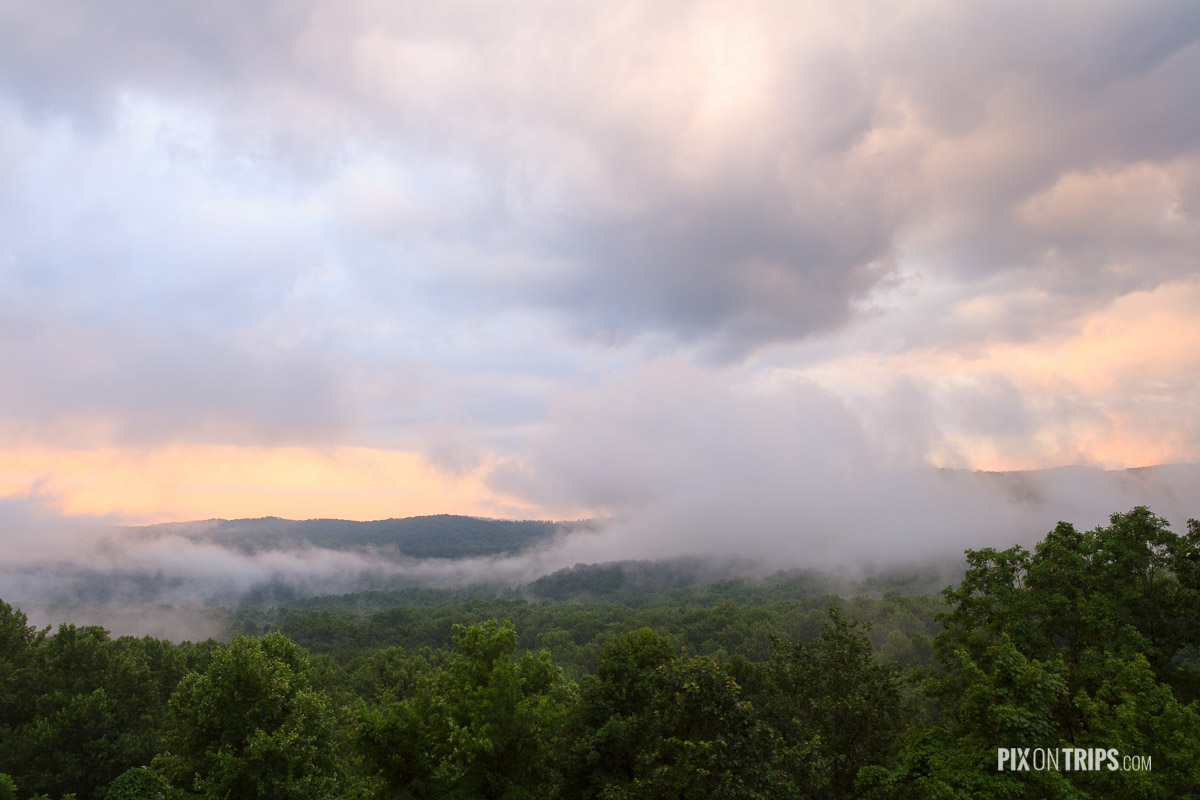 Smoky Mountains National Park after a storm in summer