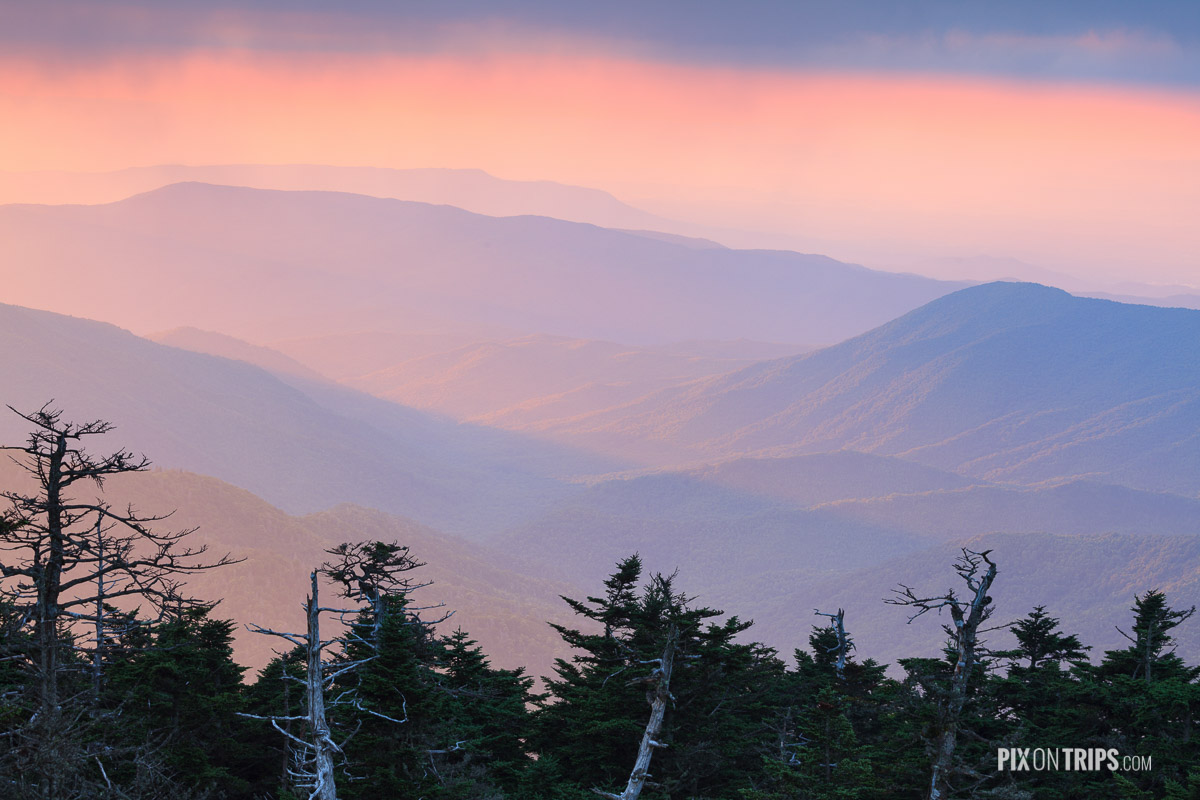 View from the Clingmans Dome Observation Tower - Pix on Trips