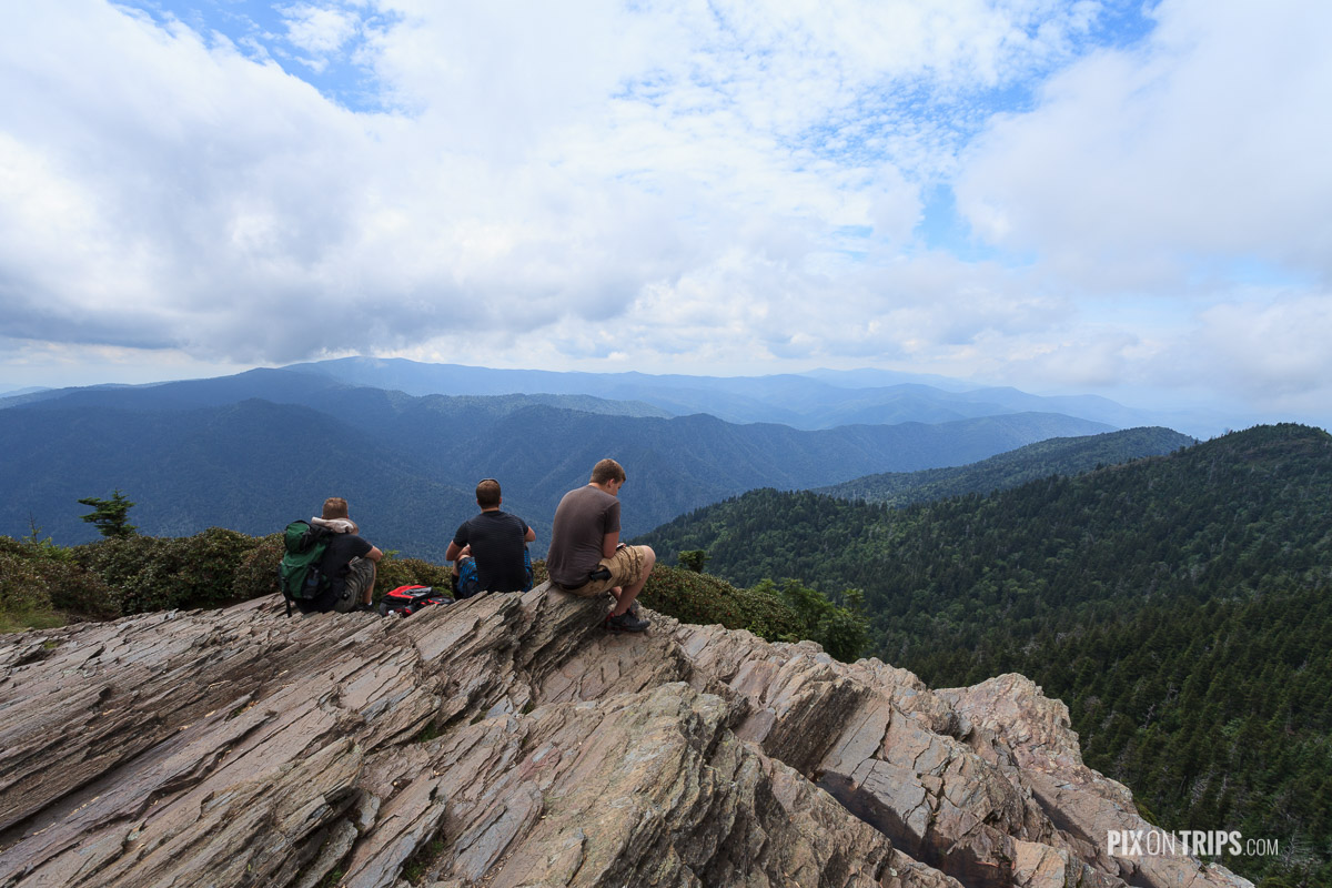 Summit of Mt Le Conte, Smoky Mountains National Park - Pix on Trips
