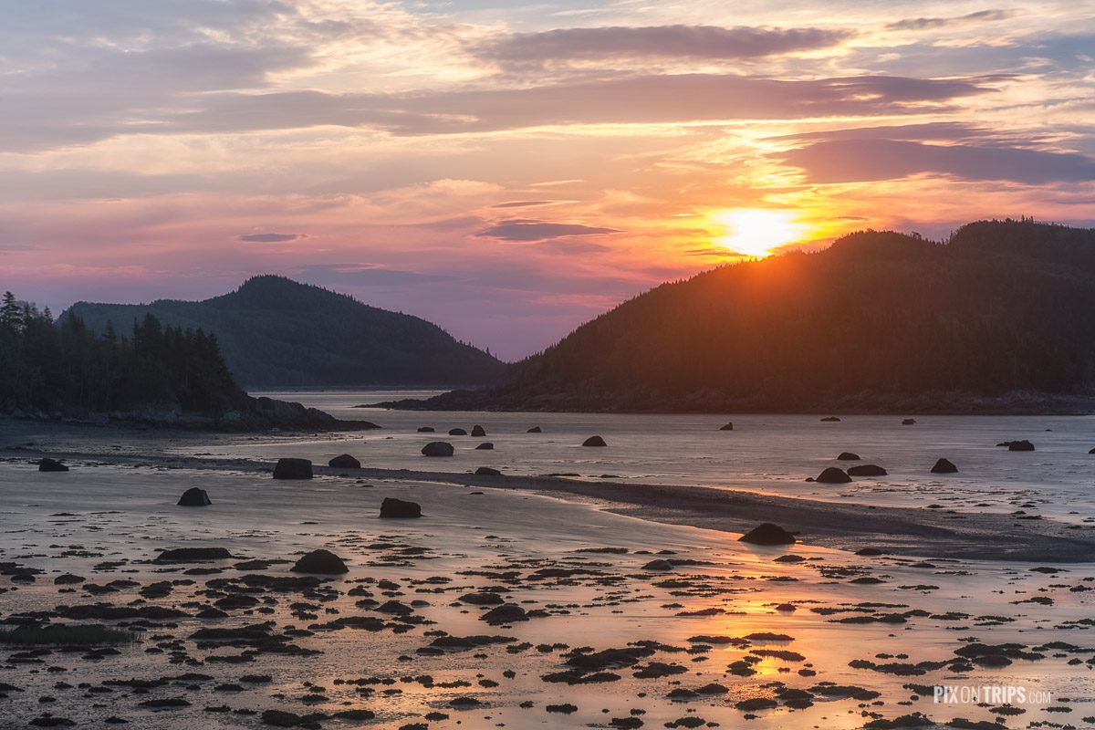 Parc National du Bic of Quebec at sunrise in summer - Pix on Trips