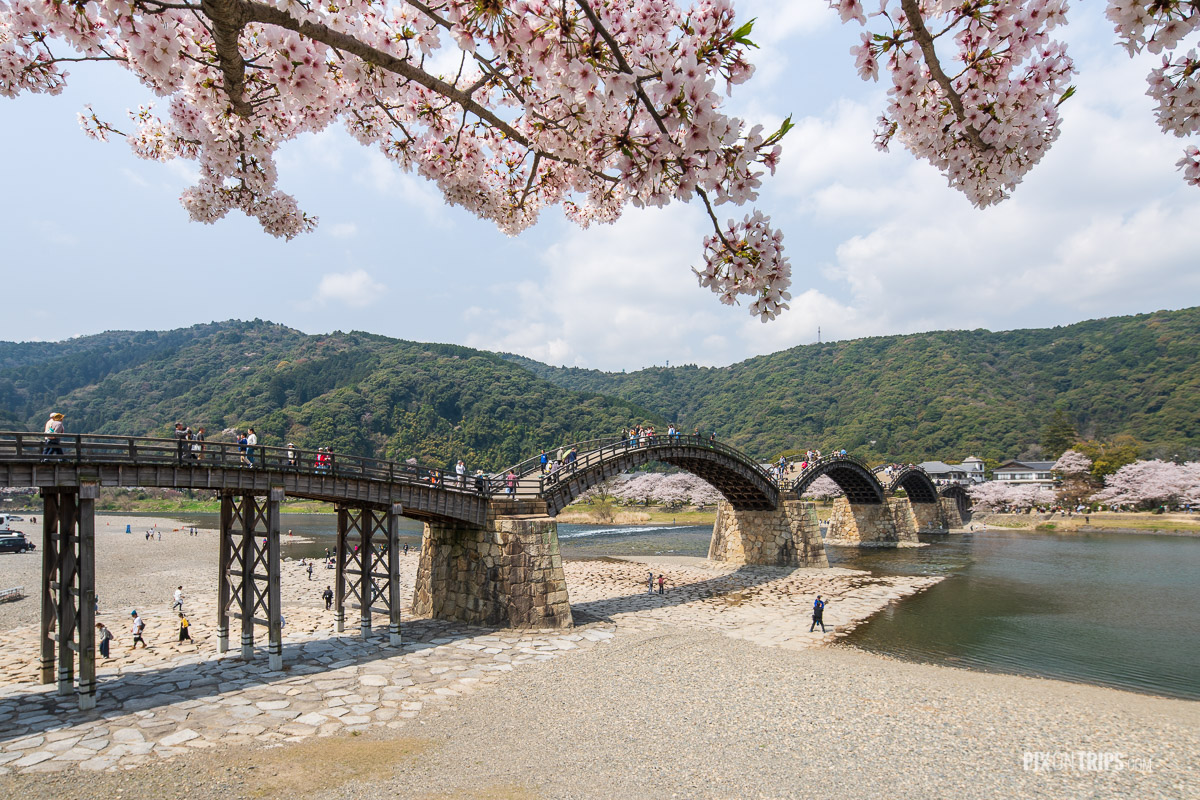 The historical Kintai Bridge on the Nishiki River - Pix on Trips