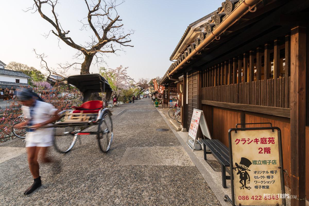 Ricksaw driver in the Bikan Historical Quarter, Kurashiki, Japan - Pix on Trips