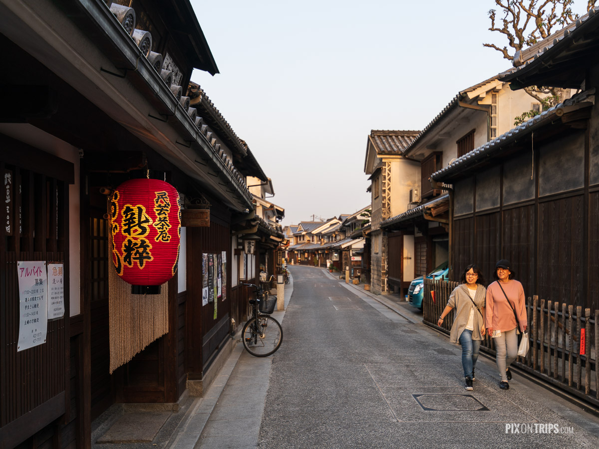 Street of Kurashiki historical district at sunset, Japan - Pix on Trips