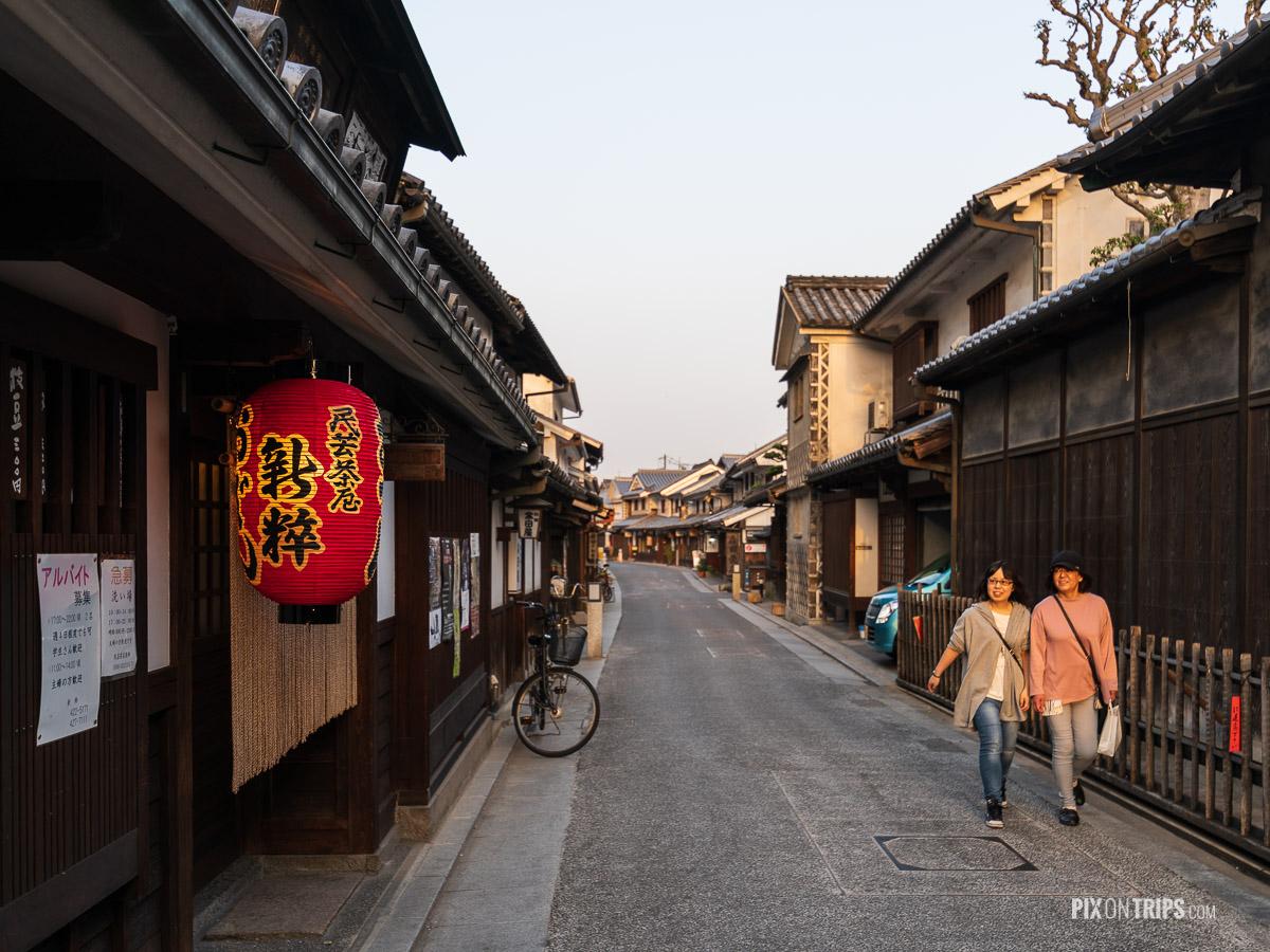 Street of Kurashiki historical district at sunset, Japan - Pix on Trips