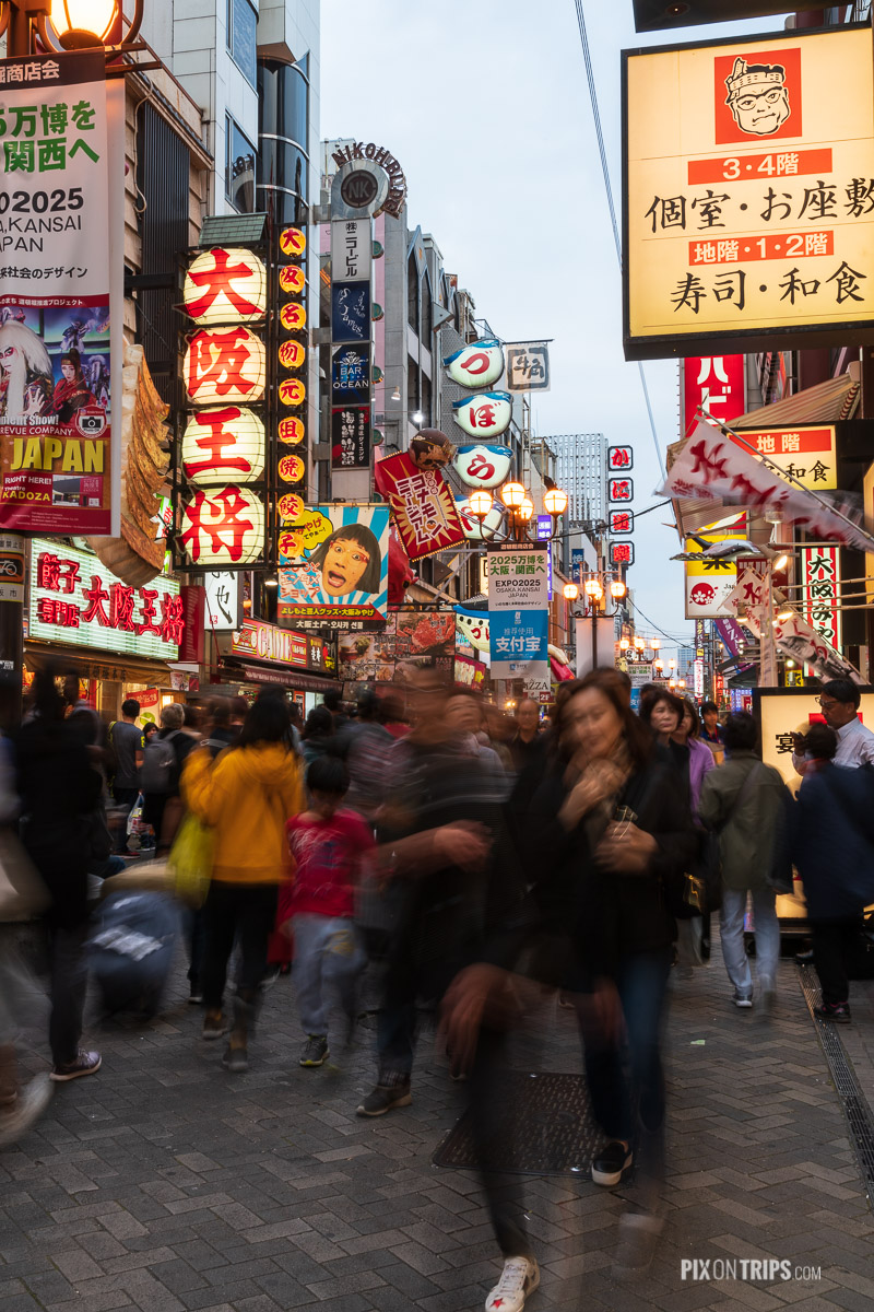 Hustle and bustle street of Dotonbori, Osaka, Japan - Pix on Trips
